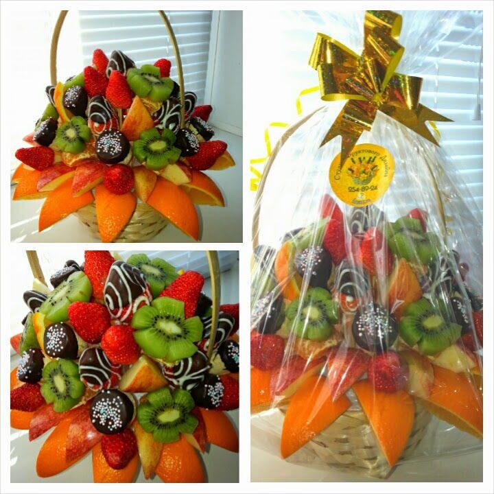 Букеты из своими руками из фруктов 78