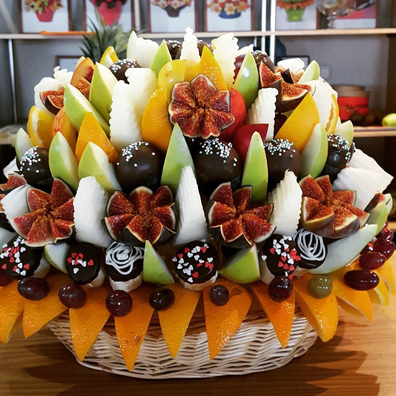 Букеты из фруктов своими руками для начинающих фото 62